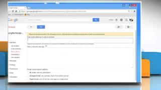 Het maken van een e-mail lijst groep in Google Groups