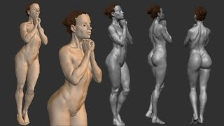 zbrush sculpting from live modele #3