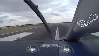 Demo flight  of Antonov AN-178 at Farnborough Air Show 2018