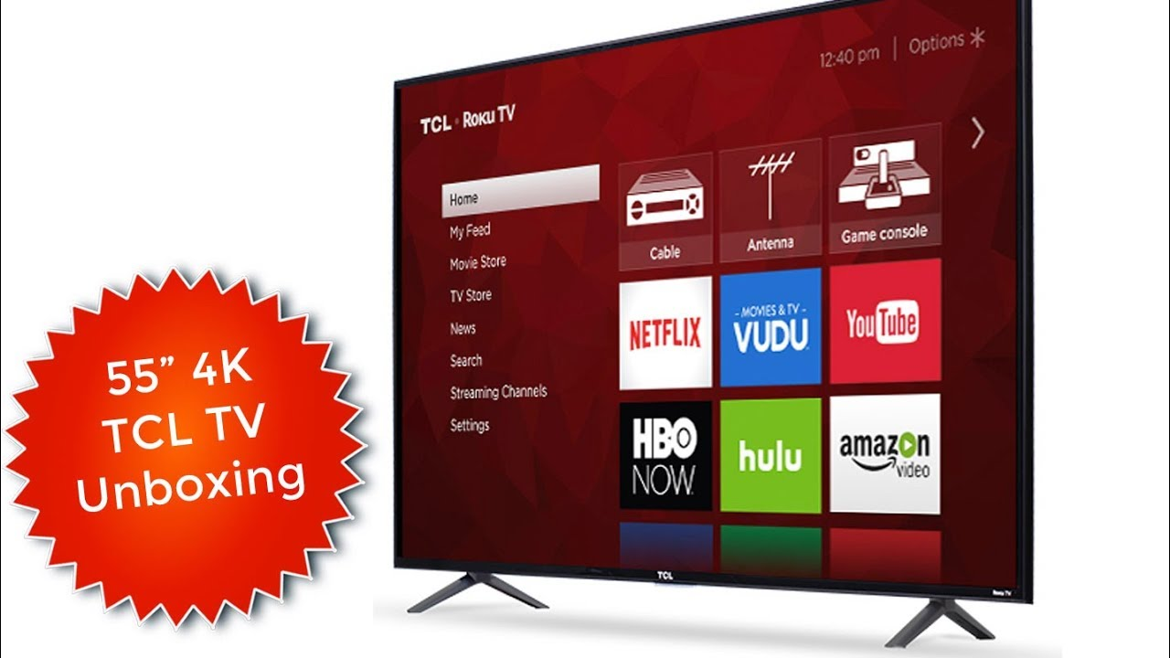 TCL 4K TV 55S403 Unboxing