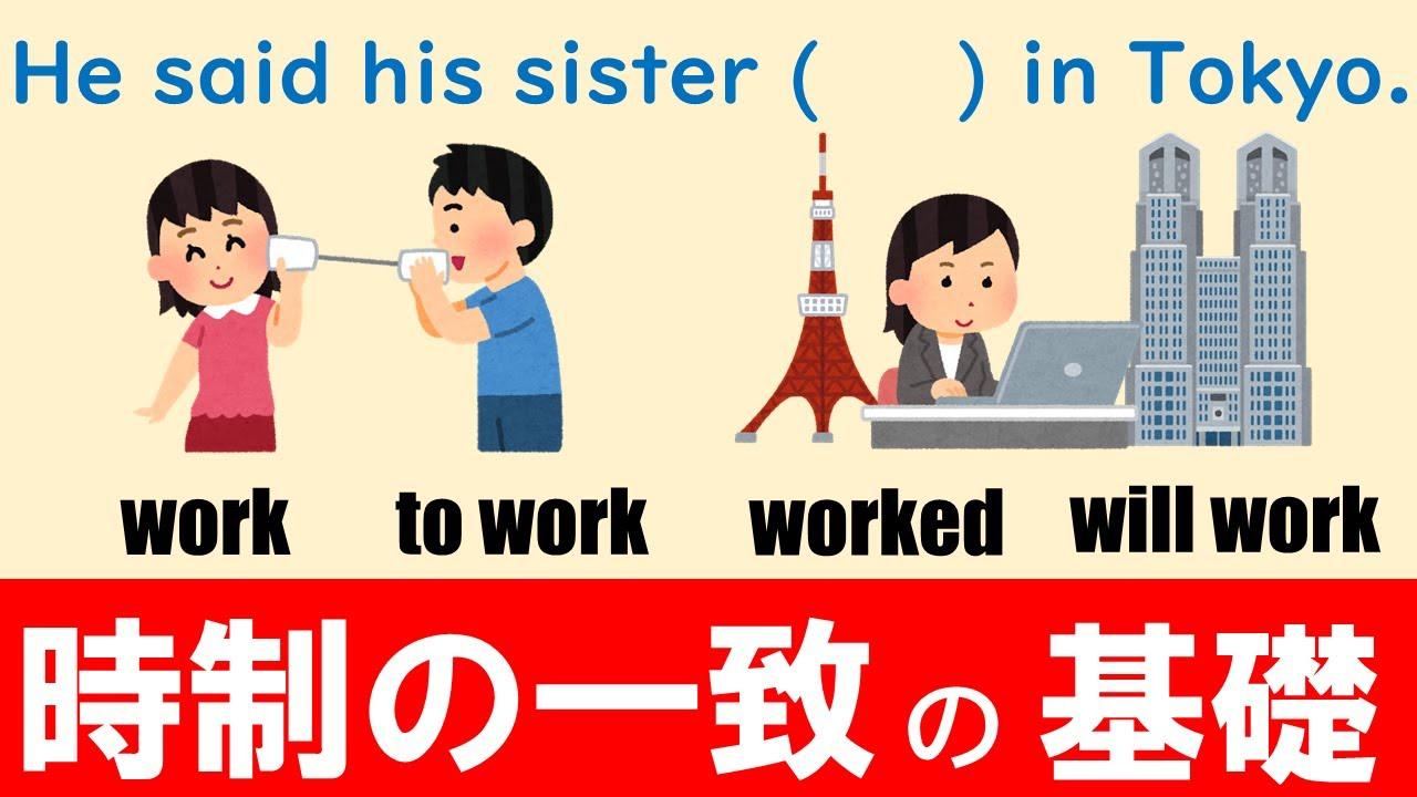 【試験に出る英文法】時制の一致その1