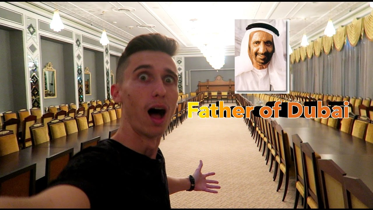 WE ARE IN THE Sheikh Rashid PALACE FIRST RULER OF DUBAI !!!!!
