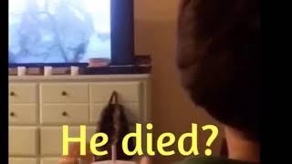 Never ending story, Atreyu Artax kid being sad that horse died. Movies