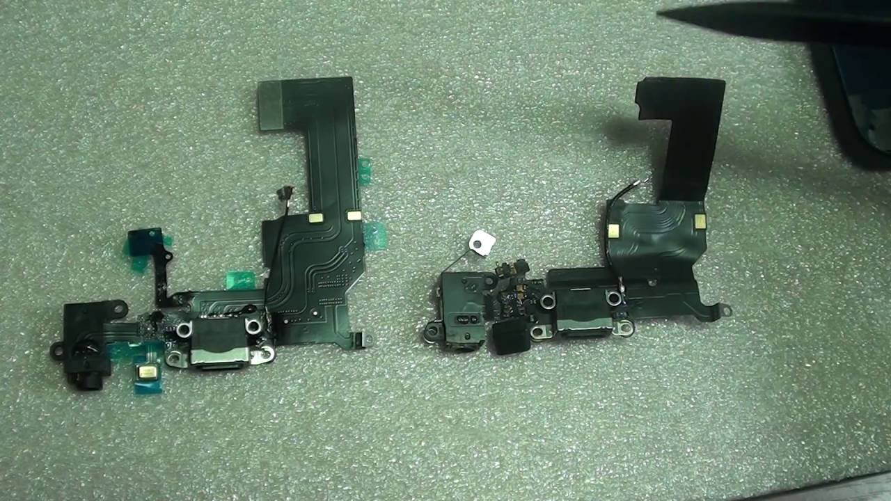 more photos 2f91a d5366 iPhone 5C and iPhone 5 Charger Port Dock Connector Flex Cable Comparison