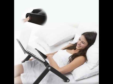 Table support pc portable avec vontilateur youtube - Tablette pour ordinateur portable lit ...