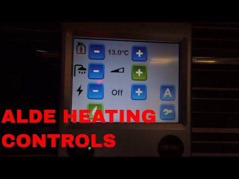 Alde 3020 Heating Control - Setting up the Controls