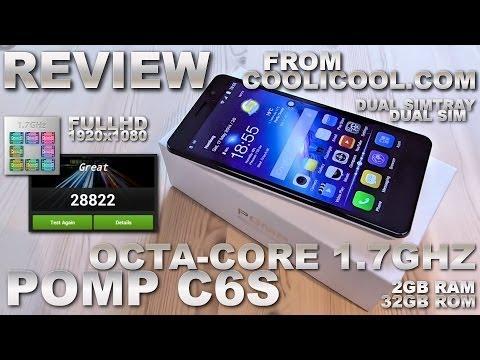 "POMP C6S 5.5"" [REVIEW] NFC/Octa-Core 1.7GHz MTK6592 2GB RAM/32GB ROM DualSIM / 1920x1080 FHD (White)"