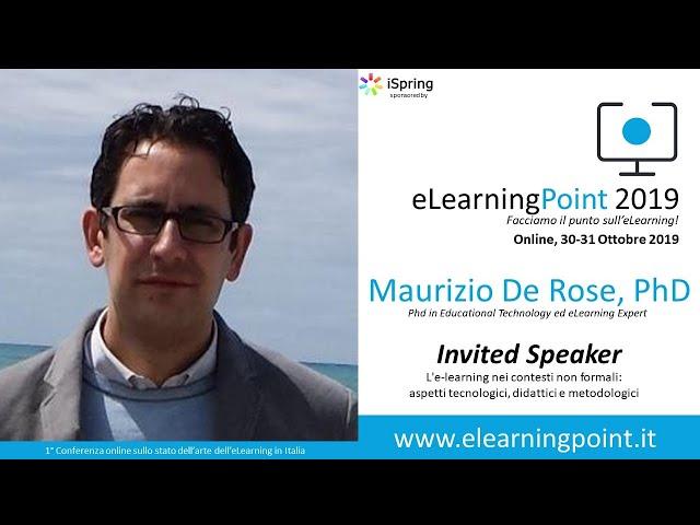 eLearningPoint 2019 - Intervento del Prof. Maurizio De Rose, PhD (Ass.ne Potenziamenti)