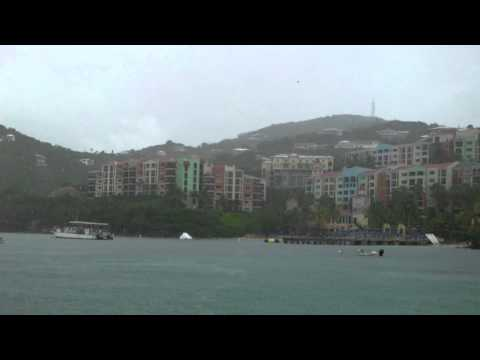 Rainy Ferry Ride in Charlotte Amalie Harbour