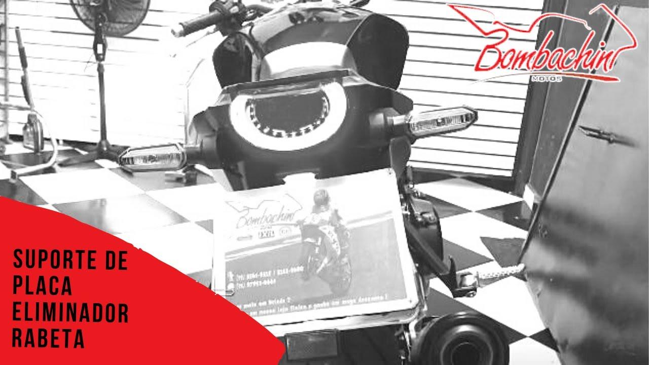Suporte placa eliminador rabeta CB1000R 2020 Bombachini motos Rex2501