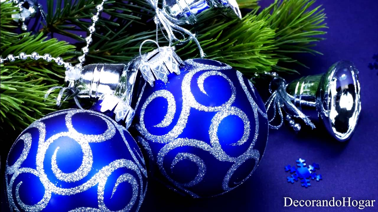 Decoraci n rbol de navidad azul tendencias youtube - Como decorar un arbol de navidad azul ...