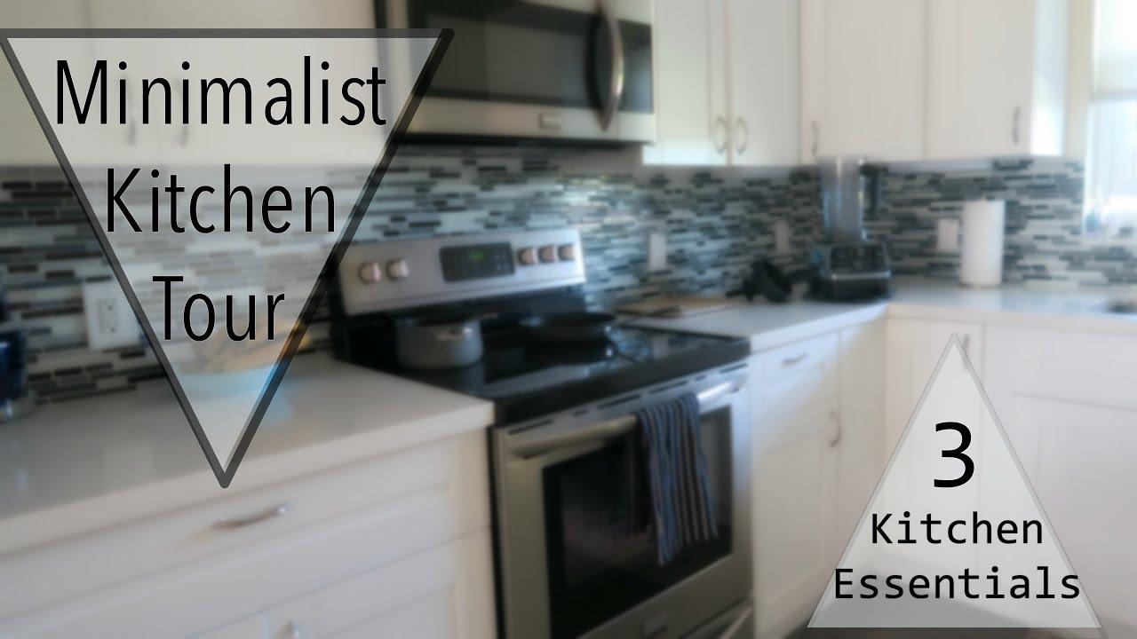 Minimalist Kitchen Tour + Top 3 Kitchen Essentials - YouTube