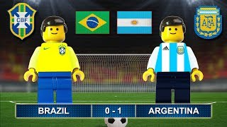 Brazil vs Argentina 0-1 • International Friendly Match (09/06/2017) • Lego Football Film Highlights