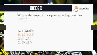 Diodes MCQ's  || Eectronics MCQ Series || FormFunia