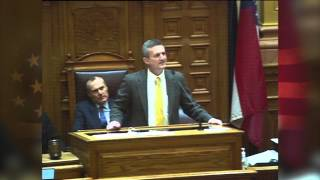 Jeff Paul recites the Declaration of Independence for the Georgia State Senate