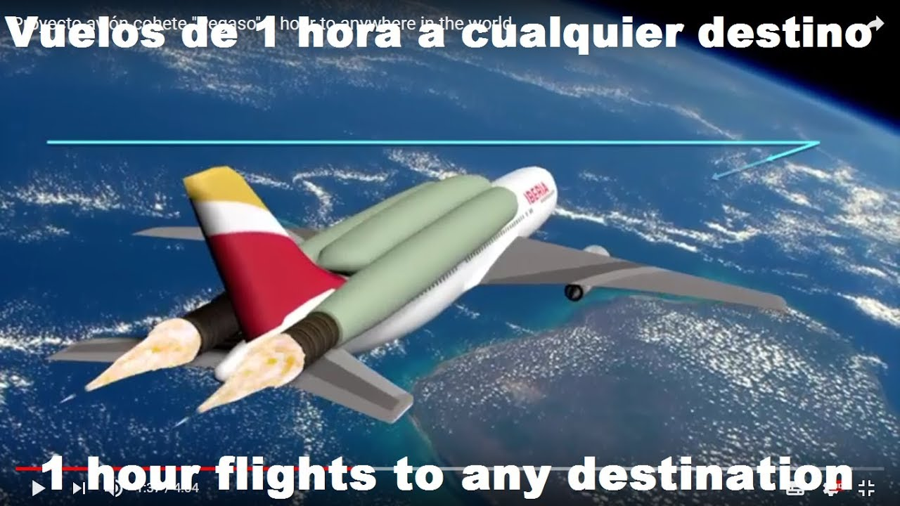 """Proyecto avión cohete """"Pegaso"""" 1 hour to anywhere in the world"""