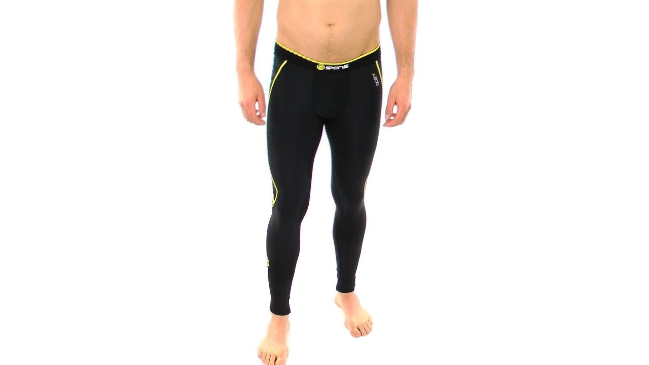 64c044a292a74 SKINS Men's A200 Compression Long Tights | SwimOutlet.com - YouTube