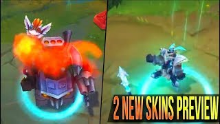 BADLANDS BARON RUMBLE, LANCER STRATUS WUKONG Skins Gameplay Preview - League of Legends