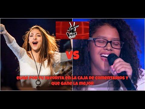 Caramelo (Colombia) vs Carmen Pendones (Venezuela) cantando Fallin - Alicia keys  La Voz Kids