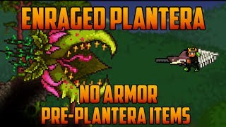 Video Terraria - Enraged Plantera, no armor & pre-plantera gear download MP3, 3GP, MP4, WEBM, AVI, FLV November 2018