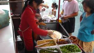 Cooking Chinese Crepe Jian Bing On Street In Shanghai.mov