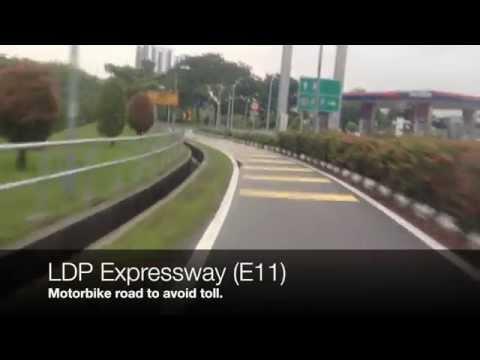 Malaysian roads by motorbike; Puchong - KL