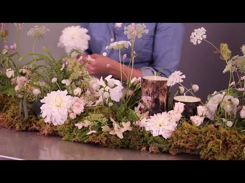 How to make flowers spring out of a table