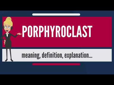 What is PORPHYROCLAST? What does PORPHYROCLAST mean? PORPHYROCLAST meaning & explanation