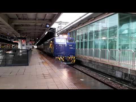 《20190614》E200型電力機車(E213 藍武士號)單機通過新左營站2A月台