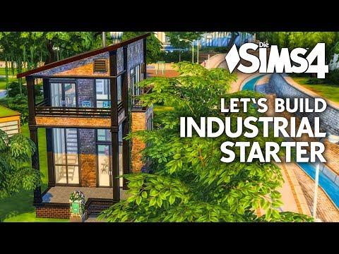 Starterhaus bauen in Die Sims 4 | Industrial Starter Haus Let's Build (deutsch)