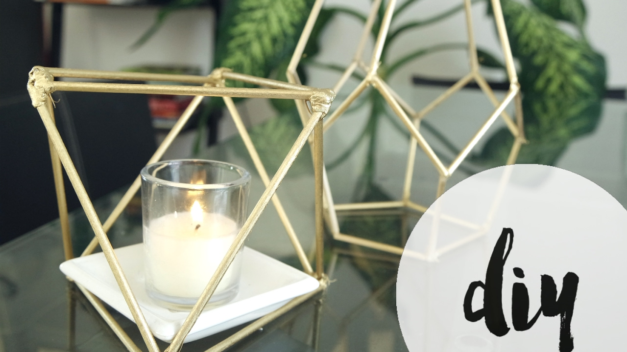 Diy Geometric Lantern Youtube