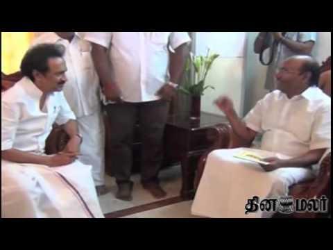 DMK Stalin Meets PMK Ramadass and Subramanian Swamy - Dinamalar News