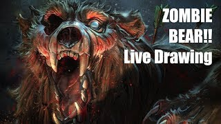 Live Stream - Zombie Bear! #Halloween Theme Request Day! 🎃