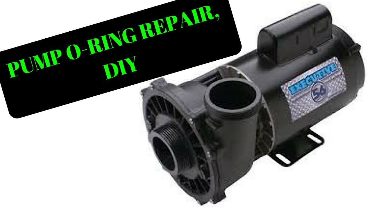 how to: change repair spa hot tub waterway executive 56 wet end pump o  ring, diy