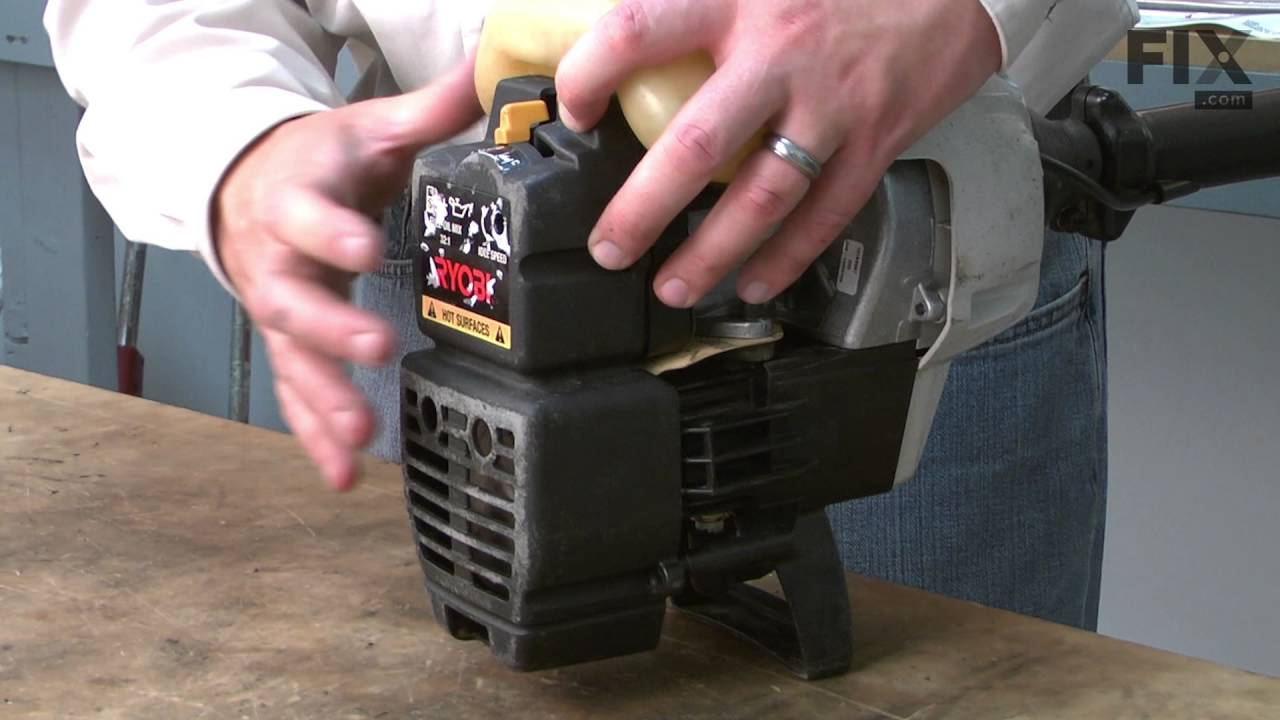 Ryobi Trimmer Repair How To Replace The Throttle Cable Youtube Ry30020b Parts List And Diagram Ereplacementpartscom