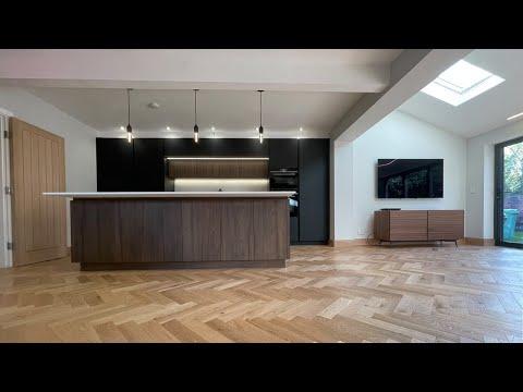Herringbone flooring installation | By Luxury Flooring Manchester