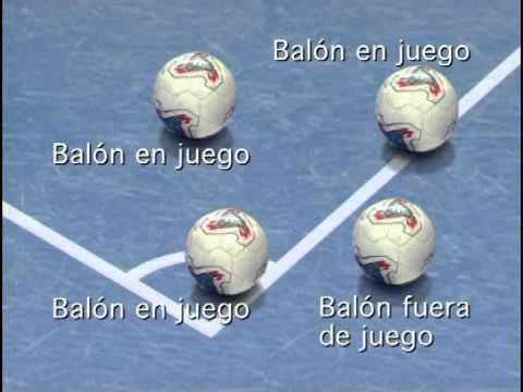 futsal regla 10 el balon en juego o fuera de juego