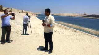 طاقم شبكة الام بي سي مصر والاعلامى محمد سليمان فى موقع العمل