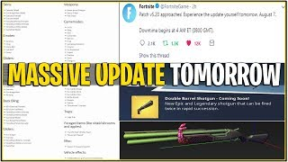 *NEW* Fortnite: MASSIVE UPDATE TOMORROW! *Skins,Weapons,modes, and More! | (Gifting Feature v5.2)
