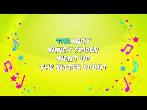 Incy Wincy Spider  | Karaoke | Nursery Rhyme | KiddieOK