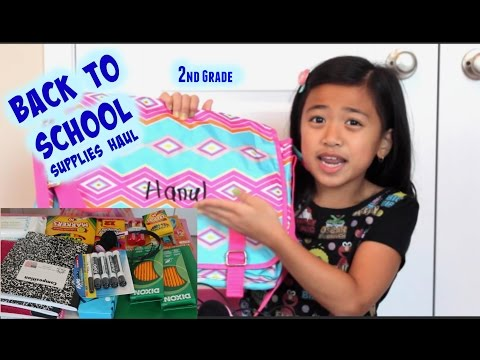 Second Grade Back to School Supplies Haul 2015