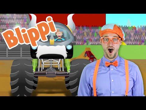 Blippi Monster Truck Song | 1 Hour of Blippi Songs and Learning Fun | Educational S For Kids