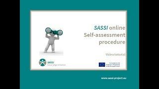 SASSI self-assessment tutorial