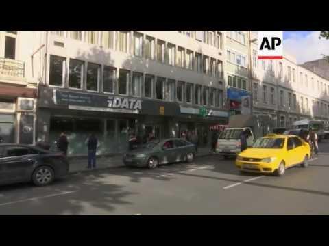Turkish people queue at Schengen visa centre
