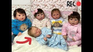 REAÇÃO DOS BEBÊS REBORN com a chegada do novo bebê reborn