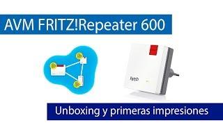 FRITZRepeater 600: Unboxing de este repetidor con Mesh Wi-Fi
