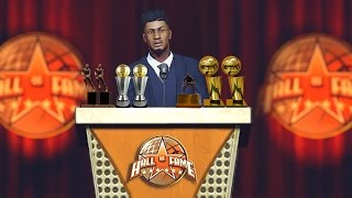 hall of fame speech   retiring the greatest player of all time   nba 2k17 mycareer