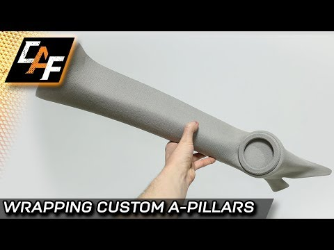 Custom A Pillar Speakers - Upholstery Wrapping - Vinyl, Suede, Headliner