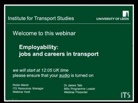 Webinar on Employability - jobs and careers in transport