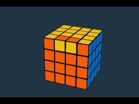 حل الحالة الشاذة الأولى في مكعب روبيك 4 4 4 دون الحاجة إلى خوارزميات طويلة و معقدة Youtube